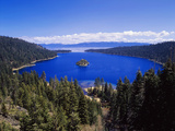 View of Emerald Bay in Lake Tahoe  California  USA
