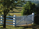 Pleasant Hill  White Shaker Fence  Kentucky  USA