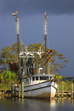 Shrimp Boat Docked at Harbor  Apalachicola  Florida  USA