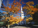 Peacham Congregational Church in Autumn  Northeast Kingdom  Vermont  USA