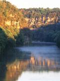 Palisades Mirrored on Kentucky River Against Sunset  Kentucky  USA