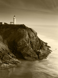 North Head Lighthouse on Cliff  Fort Canby State Park  Washington  USA