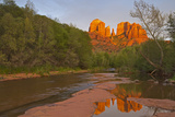 Cathedral Rocks  Oak Creek from Red Rock Crossing  Sedona  Arizona  USA