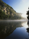 Morning Mist Along the Kentucky River Palisades  Kentucky  USA