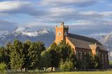 Historic St Ignatius Mission in St Igantius  Montana  USA