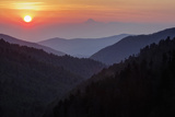 Sunset from Morton Overlook  Great Smoky Mountains National Park  Tennessee  USA
