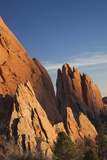 Garden of the Gods  Rock Formations at Sunset  Colorado Springs  Colorado  USA