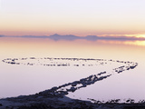 Spiral Jetty Above Great Salt Lake  Utah  USA