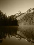 Reflection in Steaming String Lake  Wyoming  USA