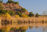 Copper Breaks State Park in Autumn at Quanah  Texas  USA