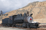 Steam Train Engine  Gold Hill Train Station  Virginia City  Nevada  USA