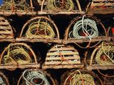 Stack of Lobster Traps at Neil's Harbor  Cape Breton  Nova Scotia  Canada