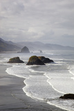 Cannon Beach and Haystack Rock  Crescent Beach  Ecola State Park  Oregon  USA