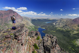 Two Medicine Lake  Diving Board  Sinopah Mountain  Glacier National Park  Montana