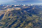 Aerial of the Rocky Mountain Front in Montana  USA