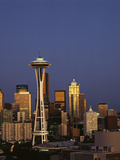 Space Needle at Dusk  Seattle  Washington  USA