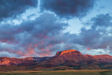 Fiery Sunrise Light  Ear Mountain  Rocky Mountain Front  Choteau  Montana  USA