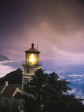 View of Heceta Head Lighthouse at Dusk  Oregon  USA