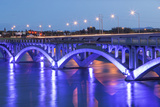 Historic Ninth Street Bridge  Missouri River in Great Falls  Montana  USA