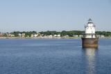 Butler Flats Light  Spark Plug Lighthouse at New Bedford Harbor  Massachusetts  USA