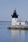 Detroit River Lighthouse  Wyandotte  Detroit River  Lake Erie  Michigan  USA