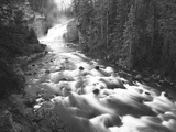 View of Firehole Falls and Firehole River  Yellowstone National Park  Wyoming  USA