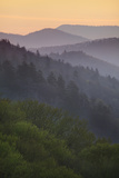 Sunrise  Oconaluftee Overlook  Great Smoky Mountains National Park  North Carolina  USA