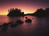 Sea Stack at Sunset  Trinidad  California  USA