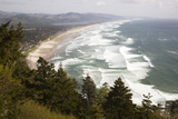 Neahkahnie Beach and Manzanita and Beach from Viewpoint  Oregon  USA