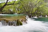 The Waterfalls of the V Cascade  Plitvice Lakes  Plitvicka Jezera  Croatia