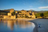 Fishing  Royal Castle  Collioure  Pyrenees-Orientales  Languedoc-Roussillon France