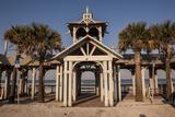 New Smyrna Beach Boardwalk  Florida  USA