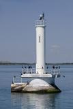 Detroit River Marker  Wyandotte  Detroit River  Lake Erie  Michigan  USA
