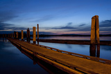 Docks at Dusk  10th Street Marina Park at the Port of Everett  Washington  USA