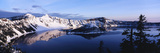 Snow-Covered Mountains with Crater Lake  Crater Lake National Park  Oregon  USA