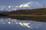 Mount McKinley  Wonder Lake  Sunrise  Denali National Park  Alaska  USA