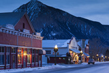 Historic Buildings Along Elk Avenue  Crested Butte  Colorado  USA