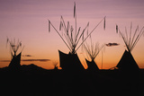 Teepee at Dusk  Logan  Utah  USA