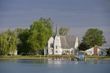 Church  Great Lakes of Lake Huron and Lake Erie  St Claire River  Michigan  USA