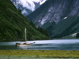 Sailboat in Tracy Arm  Fords Terror Wilderness  Alaska  USA