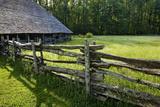 Wooden Barn  Mountain Farm Museum  Great Smoky Mountains National Park  North Carolina  USA