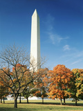 View of Washington Monument in Autumn  Washington DC  USA