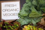 Fresh Organic Vegetables at a Farmers' Market  Savannah  Georgia  USA