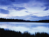 View of Clouds Reflecting in Lake at Dixie National Forest  Utah  USA