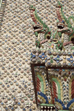 Bell Tower Porcelain Patterns  Grand Palace  Bangkok  Thailand