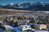 Elevated Town View  Morning  Crested Butte  Colorado  USA