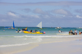 Sail Boats on the Beach  Boracay Island  Aklan Province  Philippines