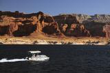 Pontoon Boat on Lake Powell  Glen Canyon National Recreation Area  Page  Arizona