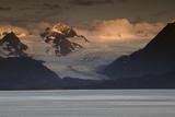 Kenai Mountains and Kachemak Bay  Homer  Alaska  USA  at Sunset