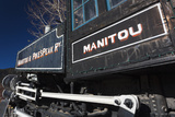 Manitou Springs  Manitou and Pikes Peak Railway Train  Colorado  USA